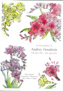 Audrey Goodwin Order of Service