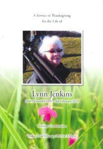 Barbara Lynn Jenkins order of service