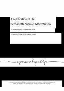 Bernadette Wilson Tribute Archive