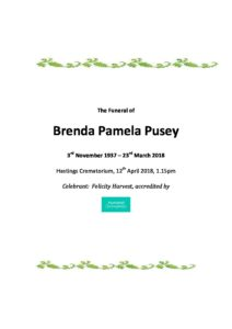 Brenda Pusey Archive tribute