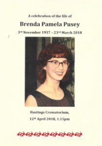 Brenda Pusey Order of Service