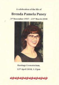 Brenda Pusey Order of Service