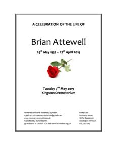 Brian Attewell Archive Tribute