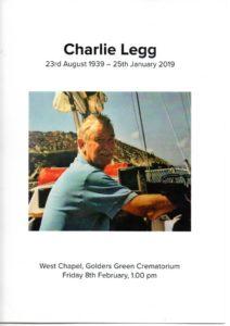 Charles 'Charlie' Legg Order of Service