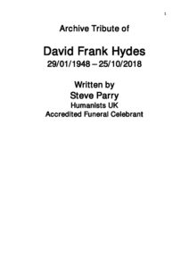 David Hydes Archive Tribute