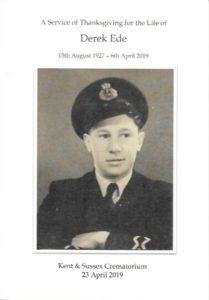 Derek Ede Order of Service