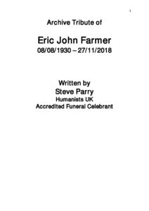 Eric Farmer Archive Tribute