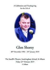 Glen Shorey Order of Service