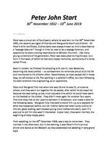 HFTA 205 Peter Start Archive Tribute
