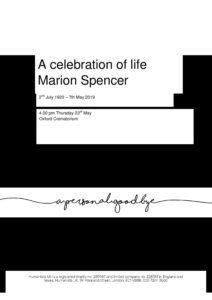 HFTA 210 Marion Spencer Tribute Cover