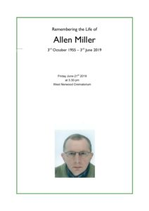 HFTA 216 Allen Miller Order of Service
