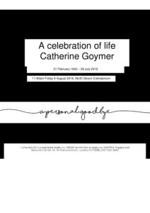HFTA 217 Catherine Goymer Archive Tribute