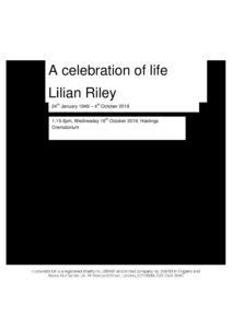 HFTA 229 Lilian Riley  Archive Tribute