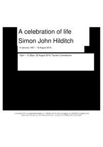 HFTA 231 Simon Hilditch Archive Tribute