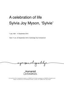 HFTA 232 Sylvia Myson Archive Tribute