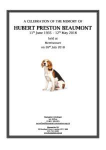 Hubert Beaumont Memorial Presentation