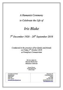 Iris Blake Archive Tribute