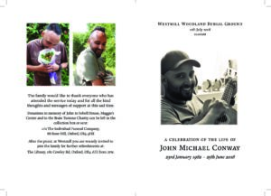 John Conway Order of Service