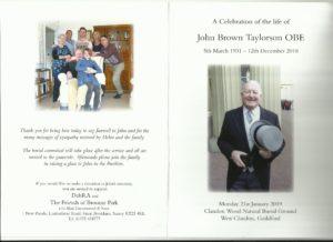John_Taylorson_Order_of_Service