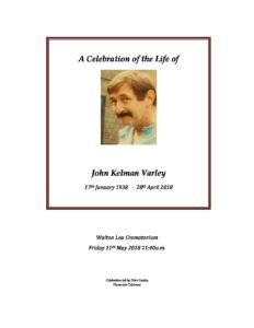 John Varley Archive Tribute
