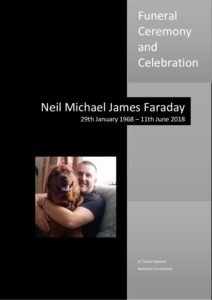 Neil Faraday Order of Service