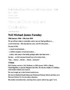 Neil Faraday Tribute