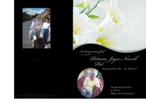 Patricia Newell Order of Service