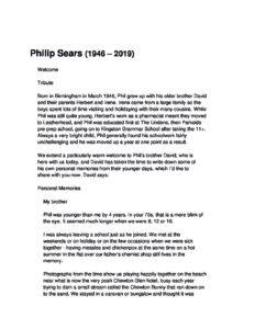 Philip Sears Archive Tribute