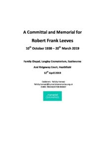 Robert Leeves Archive Tribute