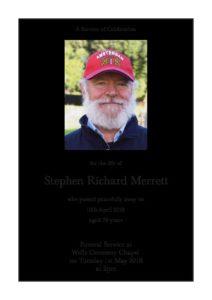 Stephen Merrett Order of Service