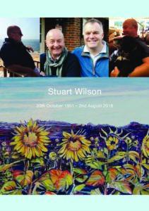 Stuart Wilson Order of Service