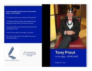 Tony Prout Celebration Handout