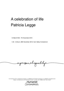 Corrected Archive submission Patricia Legge