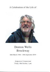 Denton Wells Brockway order of service