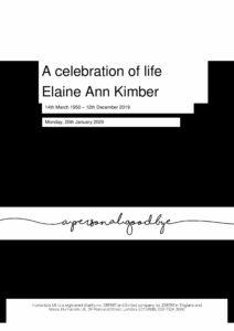 Elaine Kimber Tribute Archive