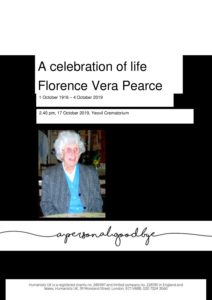 Florence Vera Pearce tribute for Humanist archive
