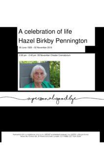Hazel Birkby Pennington Tribute (1)