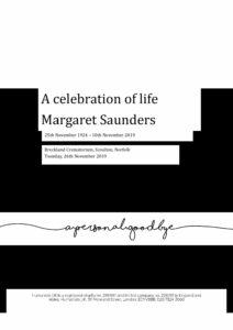 Margaret Saunders Tribute Archive