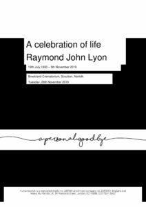 Raymond Lyon Tribute Archive