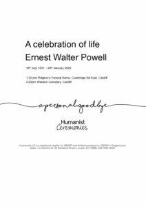 (Ernest) Walter Powell Tribute Archive