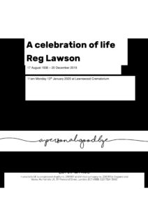 F579 Reg Lawson Tribute Archive document