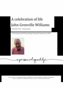 John Grenville Williams Tribute Archive
