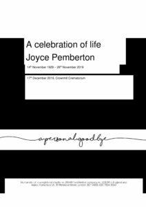 Joyce Pemberton Tribute Archive
