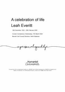 Leah Everitt Tribute Archive