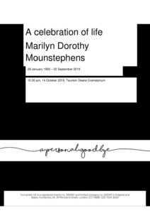 Marilyn Dorothy Mountstephens tribute for Humanist archive