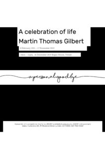 Martin Gilbert Tribute1 (1)