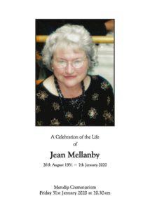 Mellanby, J - printed version