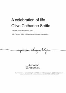 Olive Catherine Settle Tribute Archive