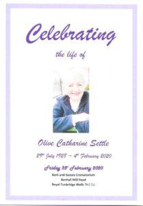 Olive Settle OOC