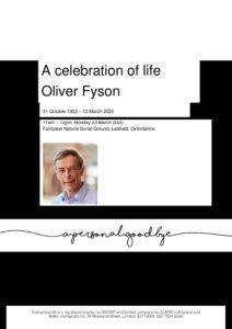 Oliver Fyson Humanists UK archive tribute 24 March 2020